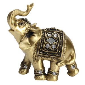 Hot Exquisite Feng Shui Elegant Elephant Statue Lucky Wealth Figurine Ornaments Gift for Home Office Desktop Decoration Crafts